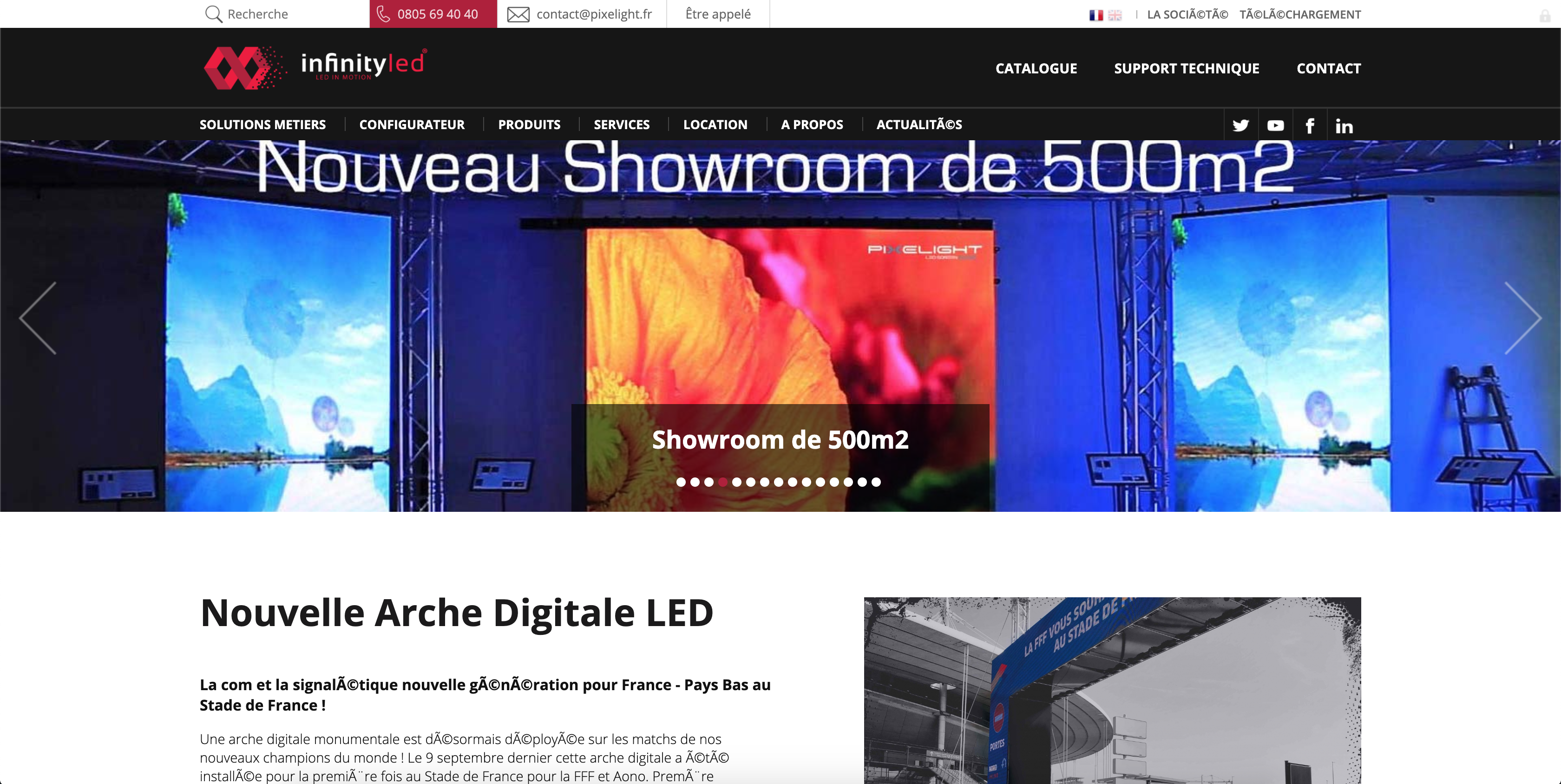 Image du site web Infinity-led.fr